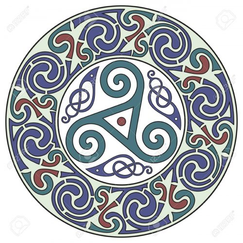 Round Celtic Design. Celtic mandala